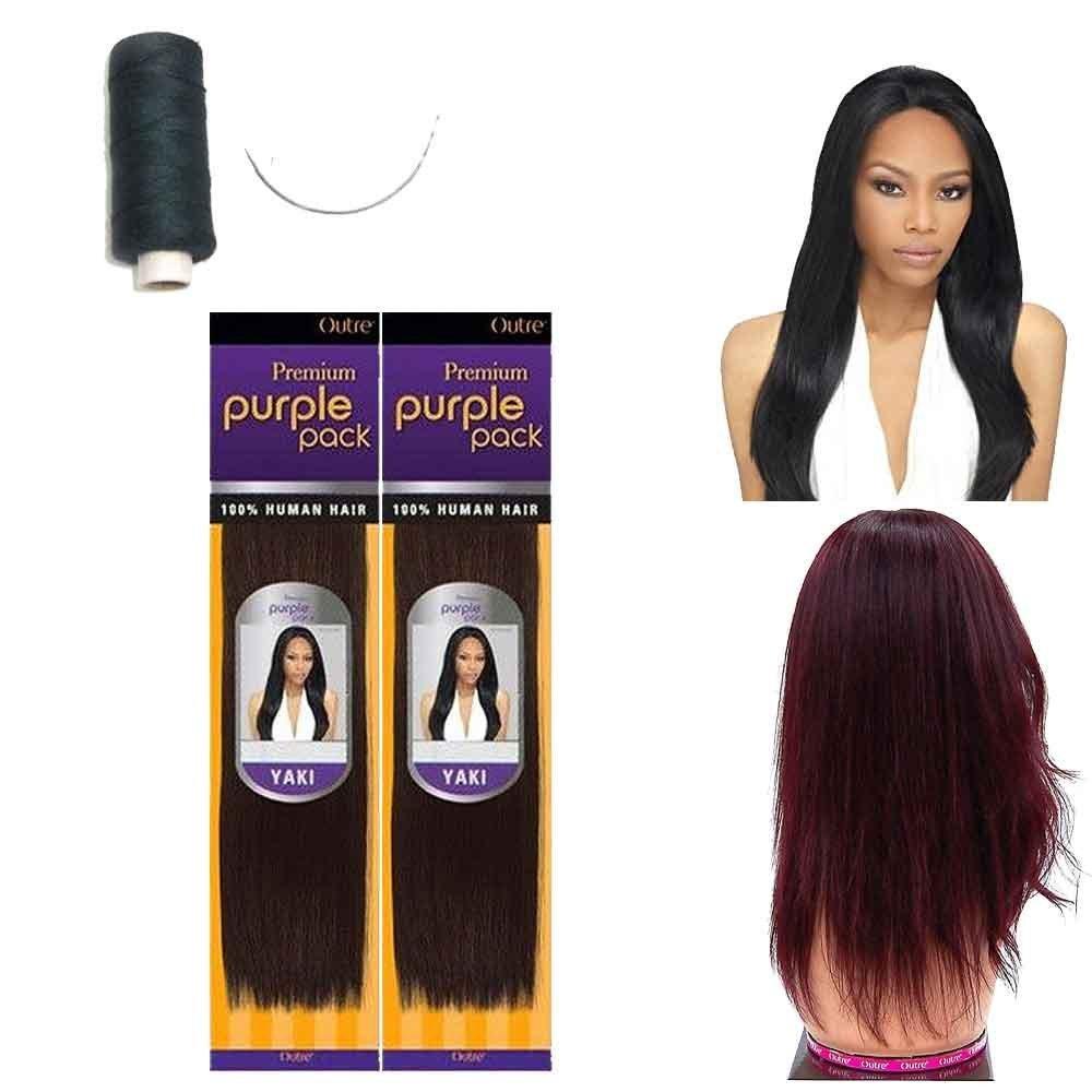 Amazon Outre Premium Purple Pack 100 Human Hair Yaki