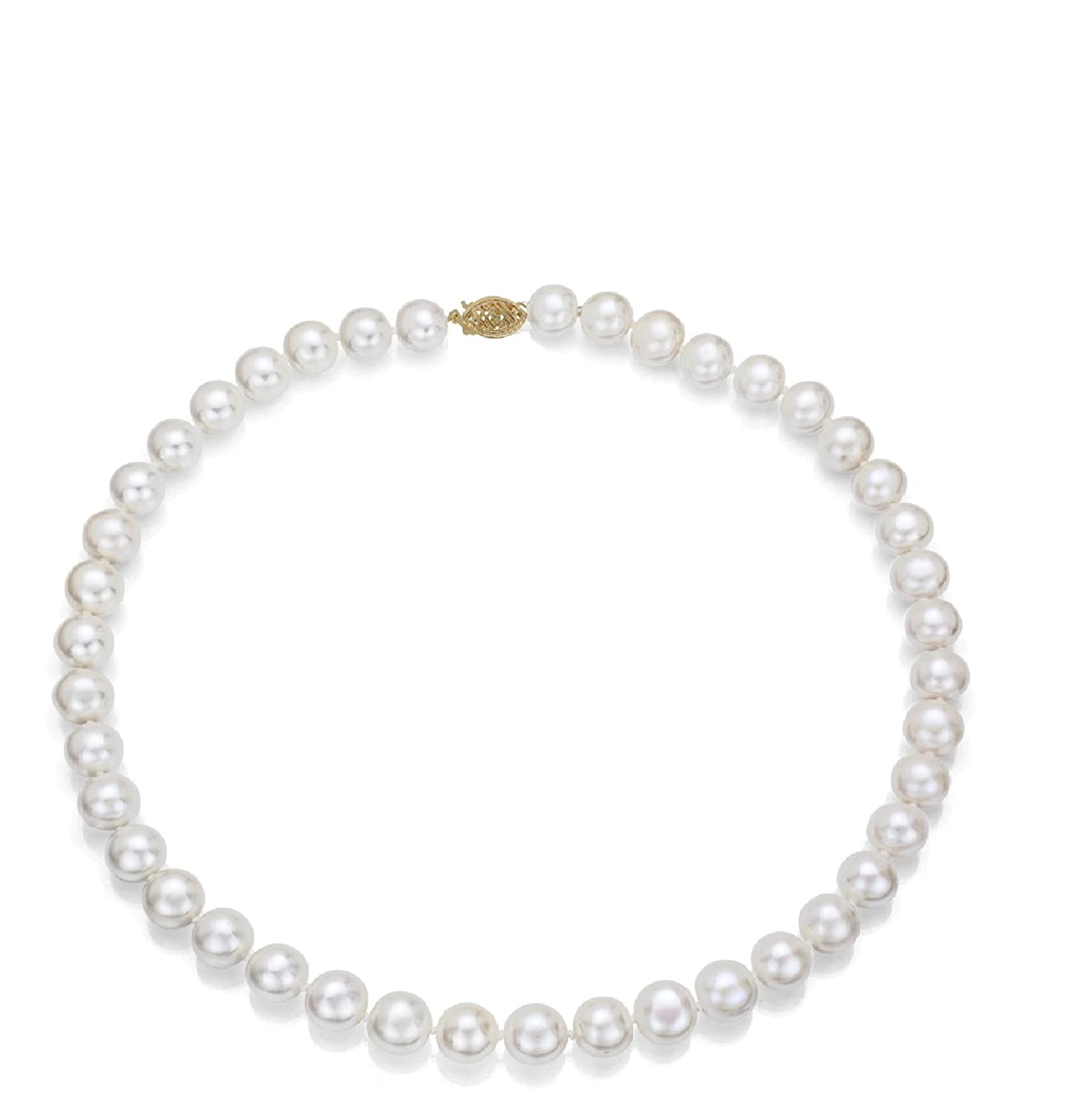 14k Gold 7-8mm Freshwater Cultured AA-Quality Pearl Necklace
