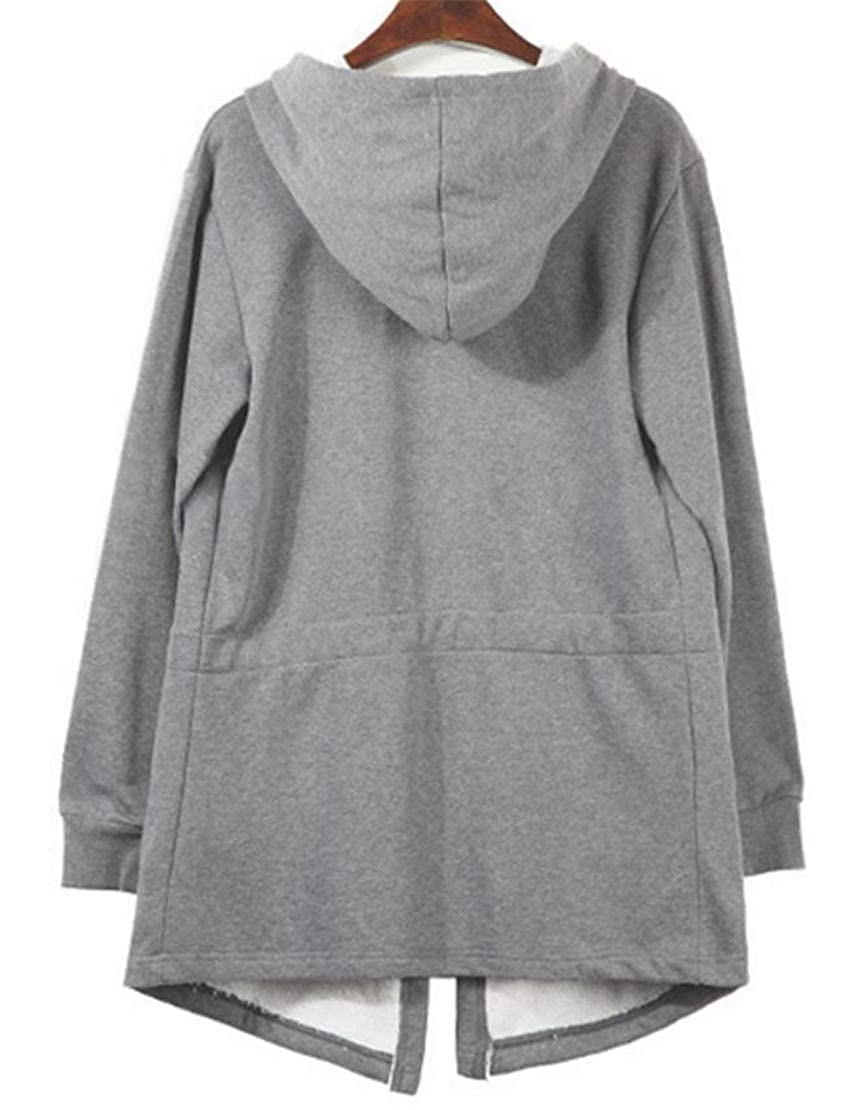 Gnao Men Open Front Hip Hop Poncho Gothic Casual Hooded Sweatshirt Jacket