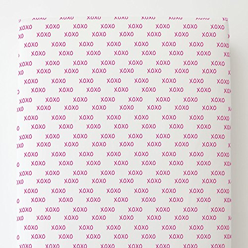 Carousel Designs Fuchsia Hugs and Kisses Toddler Bed Sheet Fitted by Carousel Designs