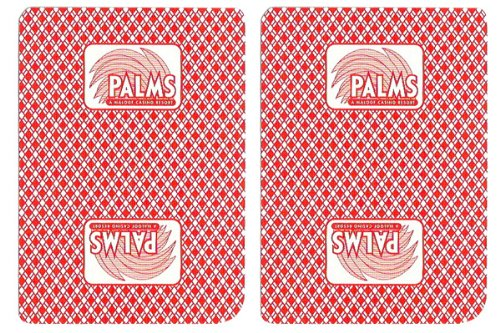 1 Deck Palms Casino Playing Cards Used In Real Casino - Free Bounty Button Kit