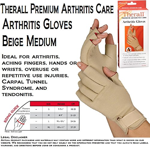 Therall Arthritis Compression Gloves For Hands Medium