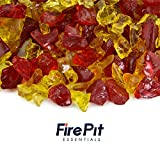 Autumn Blaze - Crushed Fire Glass Blend for Indoor and Outdoor Fire Pits or Fireplaces | 10 Pounds | 3/8 Inch - 3/4 Inch