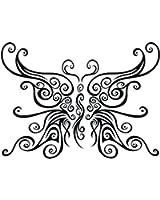 アゲハ蝶のタトゥーシール トライバルバタフライ #6