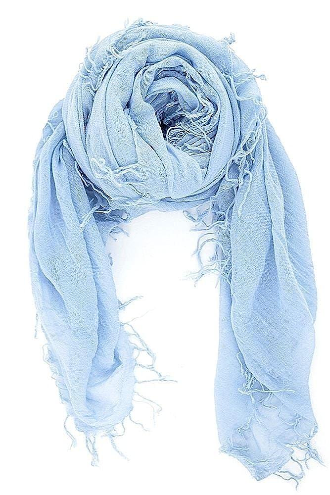CHAN LUU NEW Cashmere Blue CASHMERE & SILK SOFT SCARF Shawl Wrap