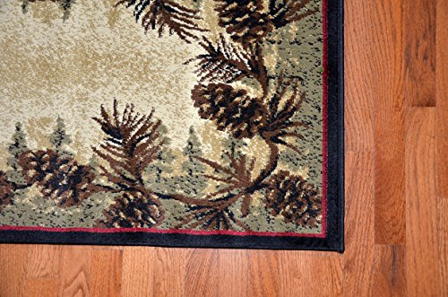 Dean Mt Le Conte Pine Cone Lodge Cabin Carpet Runner Rug