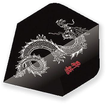 Unicorn Core 75 Dart Flights 75 Micron Schwarz China Drache