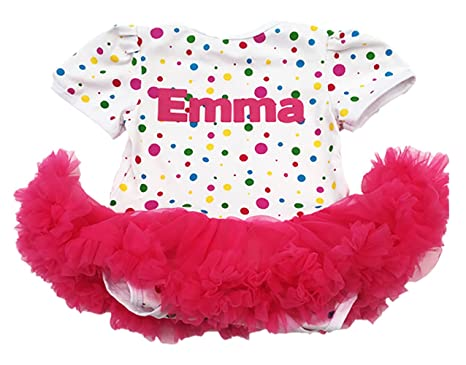 7735c93cf66 Little Secrets Personalised 1st Birthday Spotty Tutu Romper Set with  Headband and Shoes (6-
