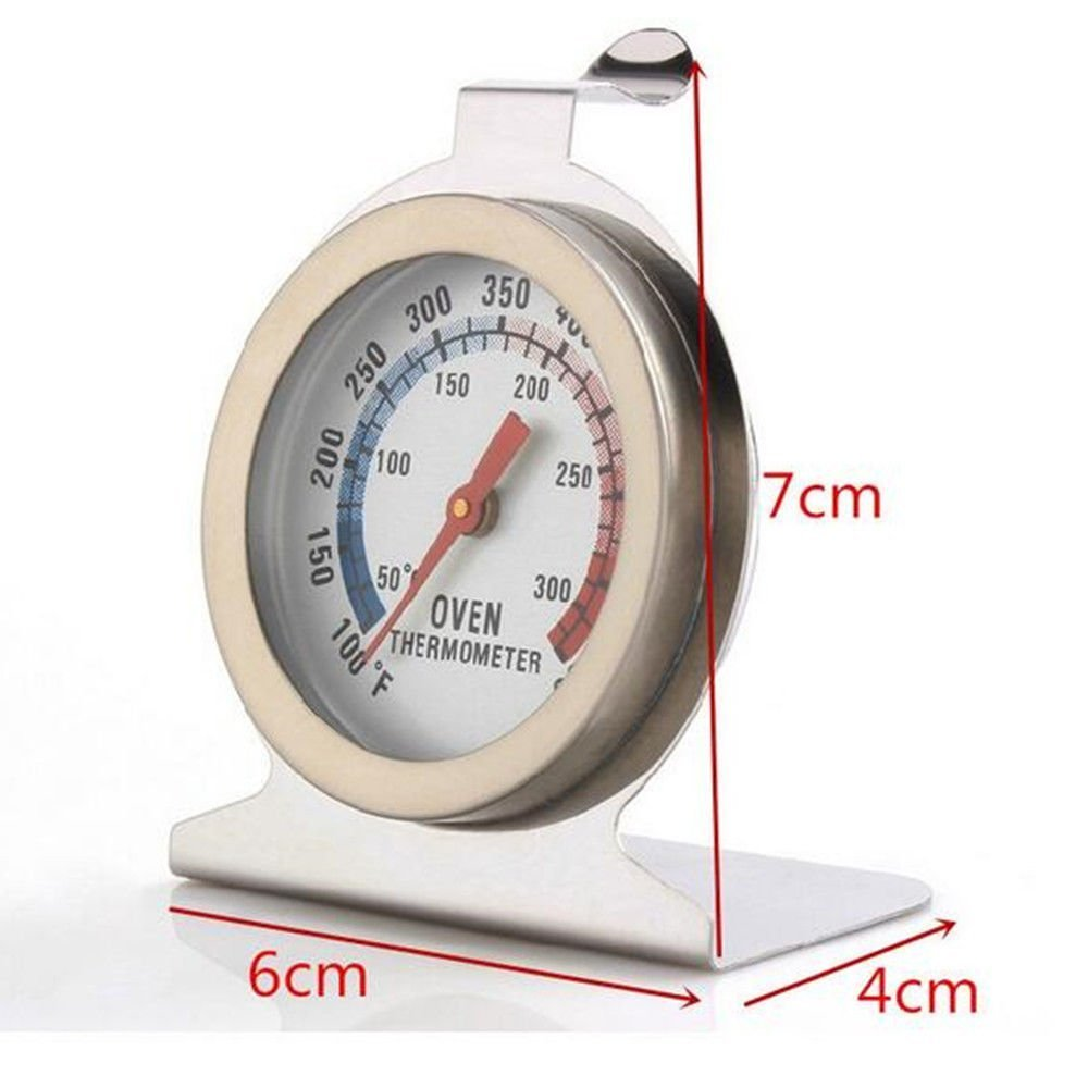 VonShef Precision Oven Thermometer Stainless Steel Hang or Stand In Oven Gauge