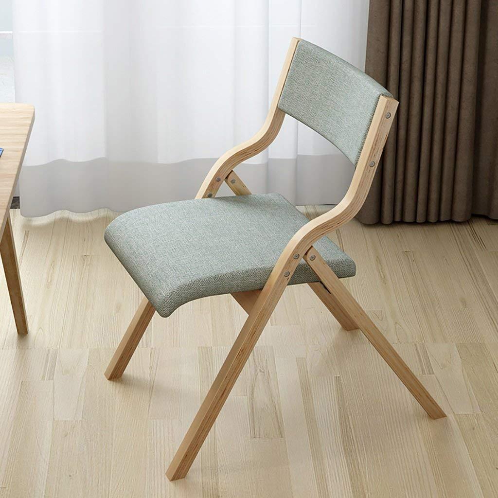 スツール椅子レトロコンピュータチェア湾曲した木製戻るクリエイティブデスクやダイニングhuoduoduo布トラス折りたたみ椅子チェア - 、 - B07MZW5WN5