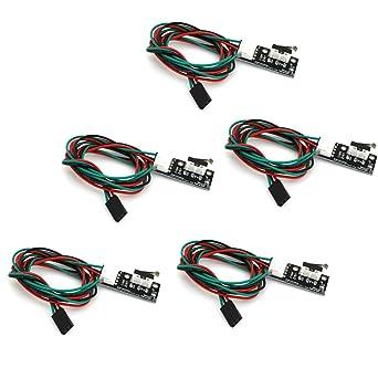 ARCELI 5Pcs Mechanical End Stop Switch Cable 3D Printer