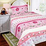 Mk Collection 2 Pc Bedspread Teens/girls Pink Floral New