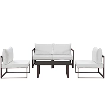 Amazon.com: lexmod Fortuna esquina exterior Patio Sillón ...