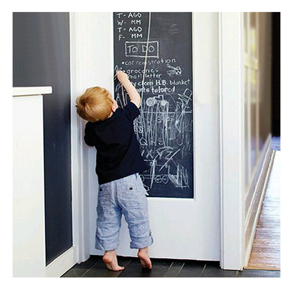 Blackboard Chalk Board Wall Sticker Wrapping Paper 43cm x 200cm for Home School & Office EVBEA