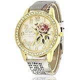 La flor Amor Pulsera del Reloj Reloj de Cuarzo de Pulsera Mujeres Accesorios de Moda
