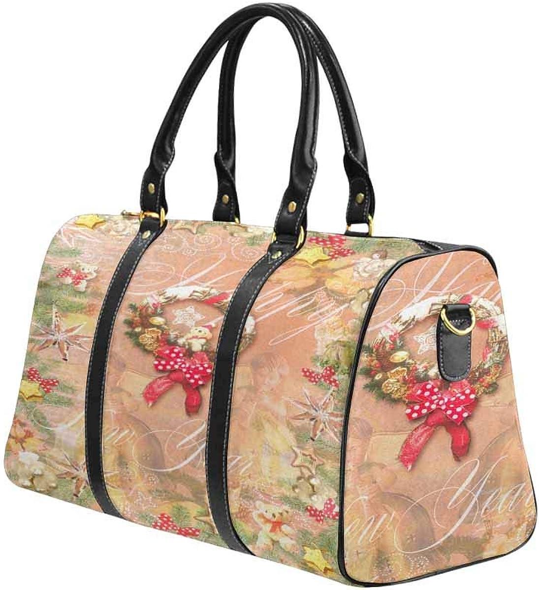 INTERESTPRINT Travel Duffel Bag Waterproof Fabric Overnight Bag