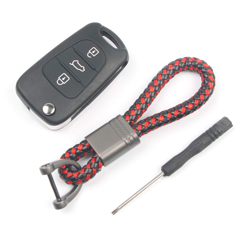 Automan 3 Buttons Flip Folding Key Shell Remote Car Key Fob Cover Case