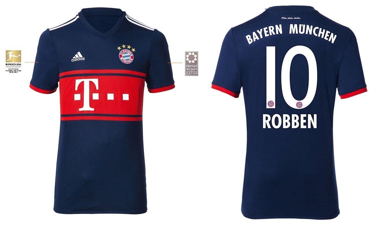 Trikot Kinder FC Bayern 2017-2018 Away BL - Robben 10