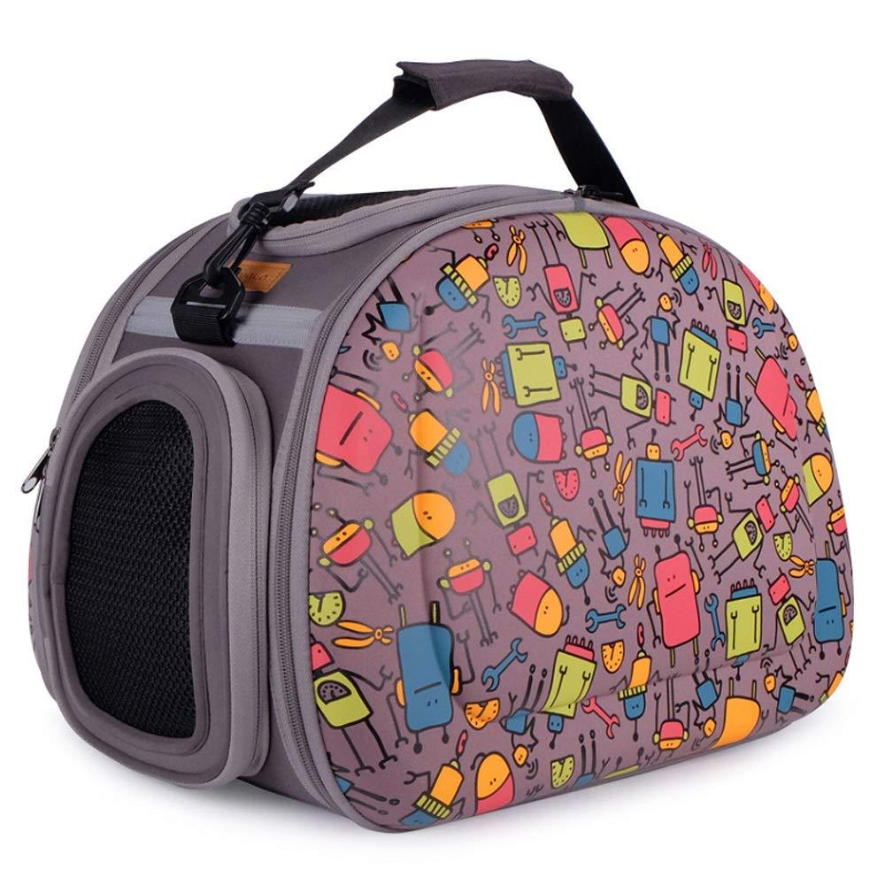 DS- Pet stroller Pet Bag Folding Backpack Handbag Breathable Beautiful Aviation Pet Bag 460X300X320mm &&