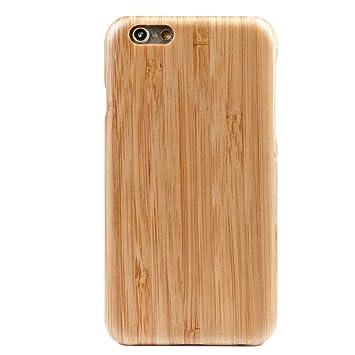 WOLA Carcasa Madera para iPhone 6 Plus / 6s Plus Air Funda de aramida y Madera bambú