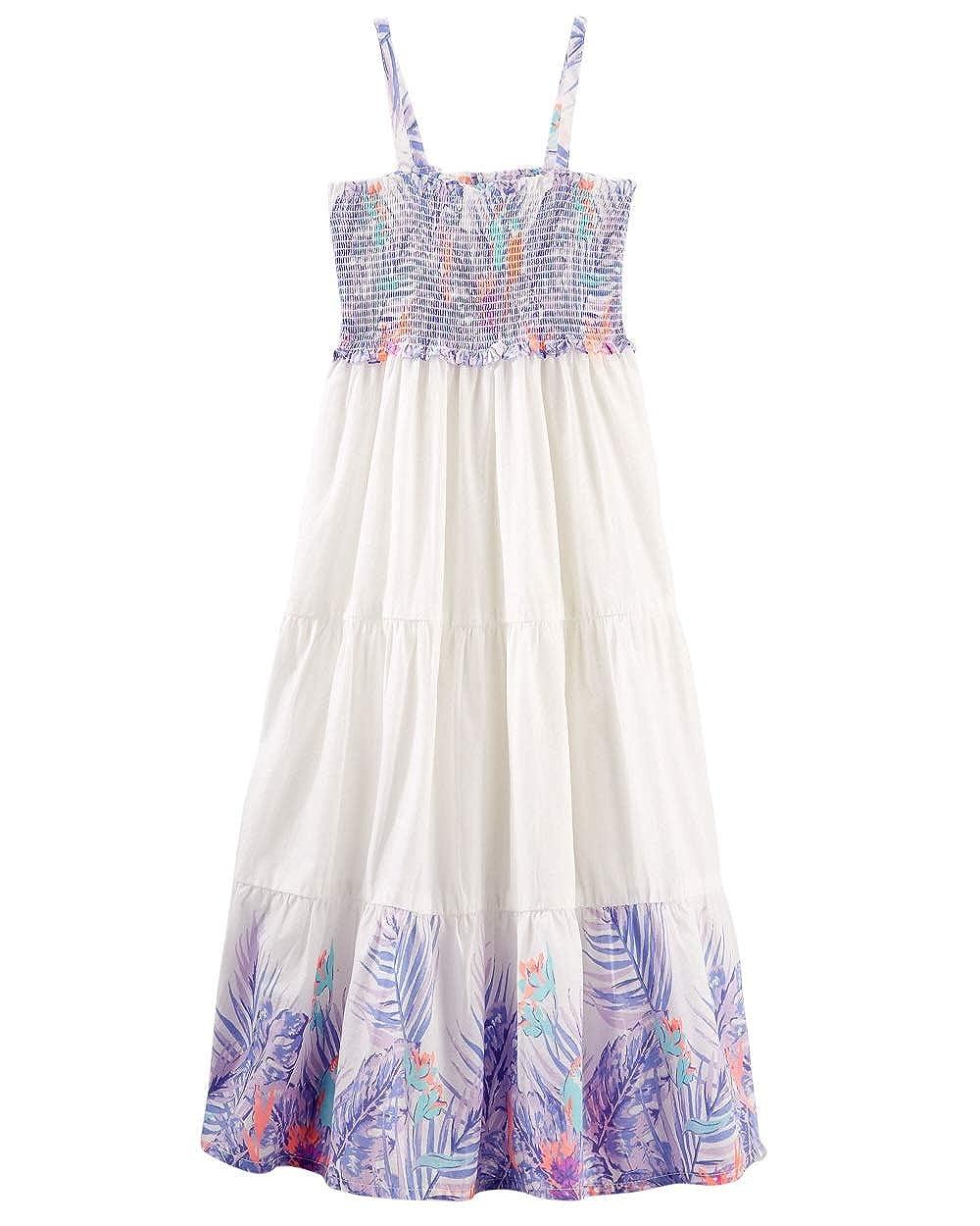 12 Months White OshKosh BGosh Baby Girls 2-Piece Tiered Boho Maxi Dress