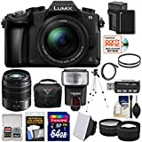 Panasonic Lumix DMC-G85 4K Wi-Fi Digital Camera & 12-60mm Lens with 45-150mm Lens + 64GB Card + Battery + Case + Tripod + Flash + Tele/Wide Lens Kit