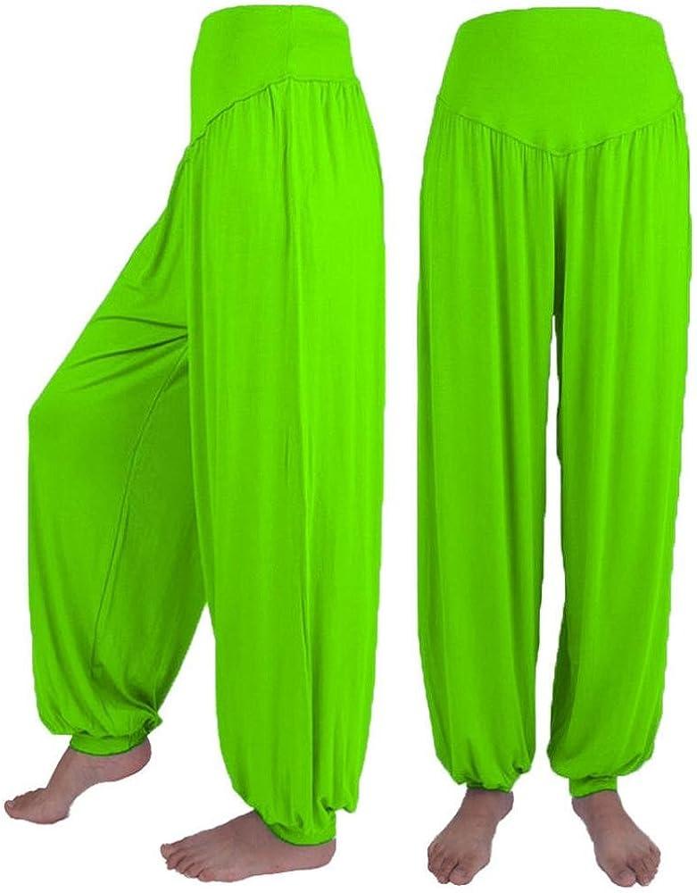 Nuevo!! Pantalones De HaréN La Danza De Mujer Pantalones De Yoga Suave Modal EláStico Ocasional Flojo Ancho AlgodóN (L, Verde): Amazon.es: Ropa y accesorios
