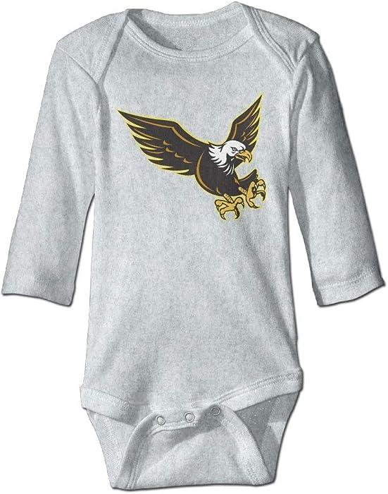 ca88361be Amazon.com: Baby American Bald Eagle Flying Long Sleeve Romper Onesie  Bodysuit Jumpsuit: Clothing