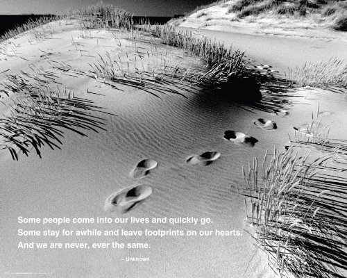 Footprints - Quote Mini Poster 20 x 16in