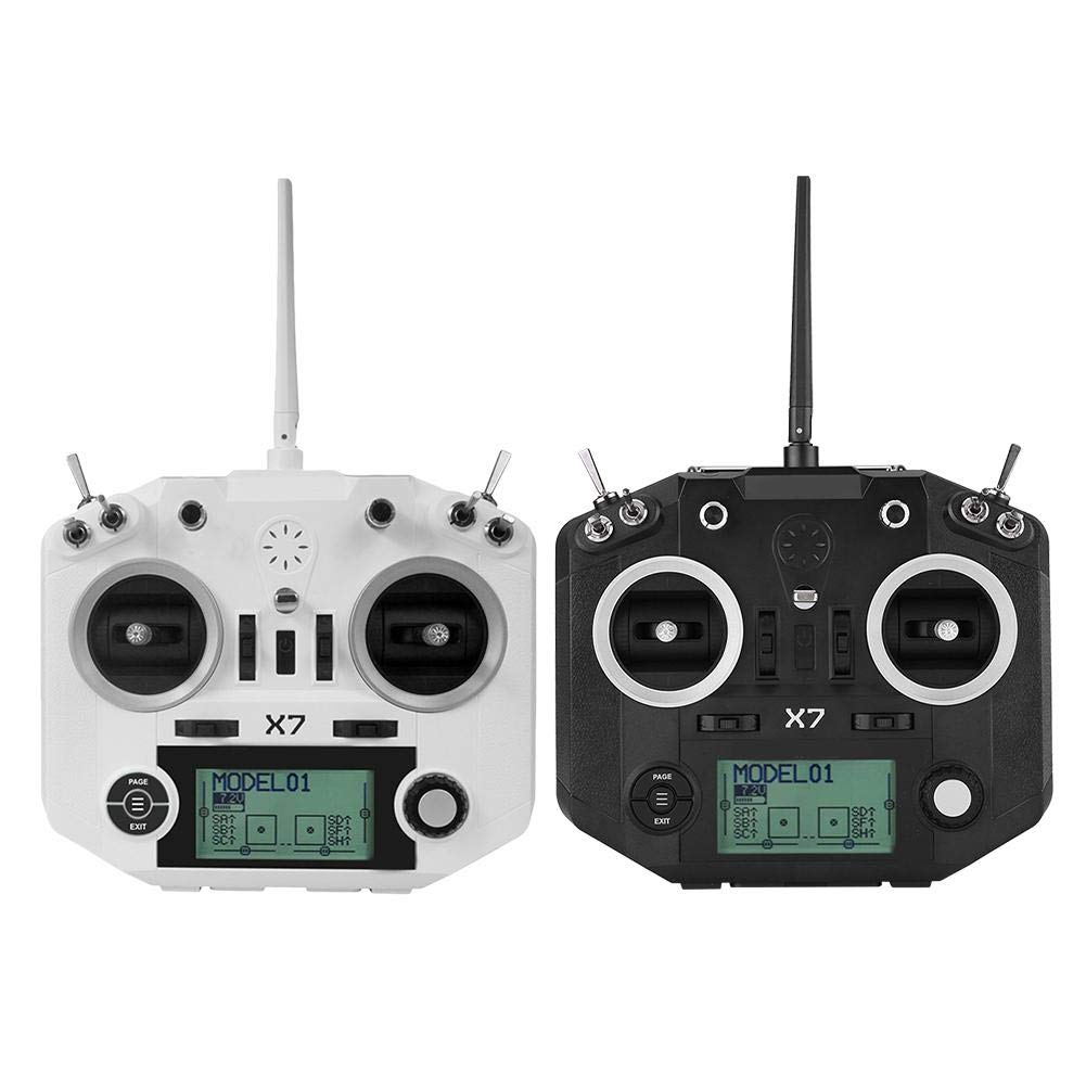 selección larga Negro Flysky Q X7 Alta Alta Alta Precisión 2.4GHz 16CH Radio Controlador Transmisor y Kit Receptor para FPV Quadcopter RC Helicóptero Racing Drone(Negro)  orden ahora con gran descuento y entrega gratuita