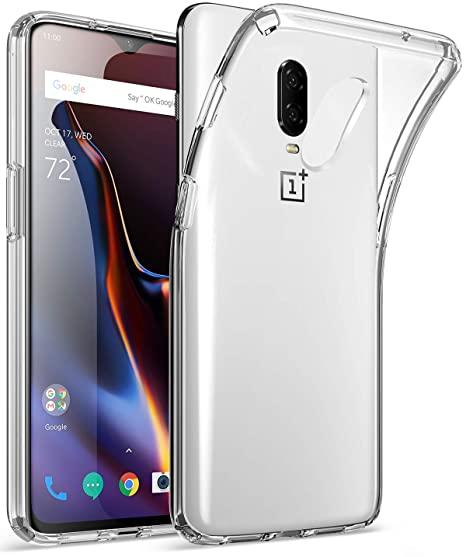 quality design 37c68 45fa8 OnePlus 6T Clear Case, Poetic Lumos Flexible Soft Transparent Ultra-Thin  Impact Resistant TPU Case for OnePlus 6T - Crystal Clear
