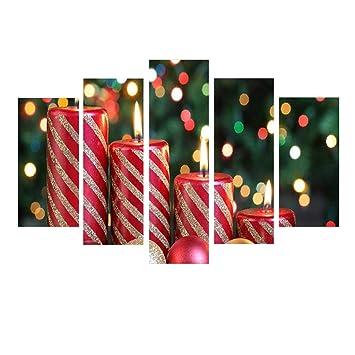 Amazon.com: Meanit - 5 paneles de lienzo de Navidad para ...