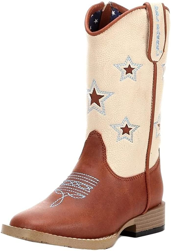 4472001Y Square Toe Double Barrel Youth Boys/' Trailboss Cowboy Boot