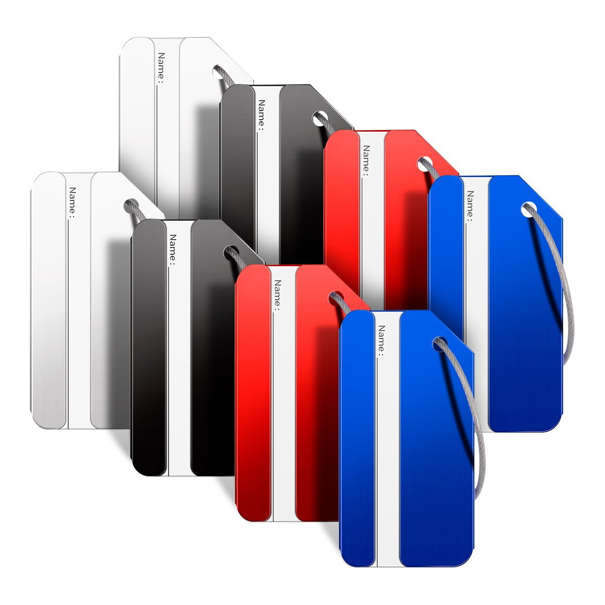 dacf629e966c Amazon.com | Luggage Tags, Bag Tag Travel ID Labels Tag For Baggage  Suitcases Bags, 8 Pack | Luggage Tags