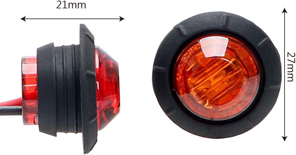 1/paire Truck Side Marker lumi/ères LED Signal Tour Signal indicateurs Jaune