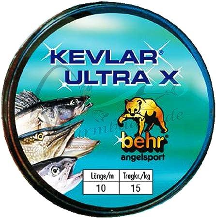 Raubfischvorfach Kevlar 10 M in 4 verschiedenen Tragkr/äften 5 7 12 oder 15 Kg