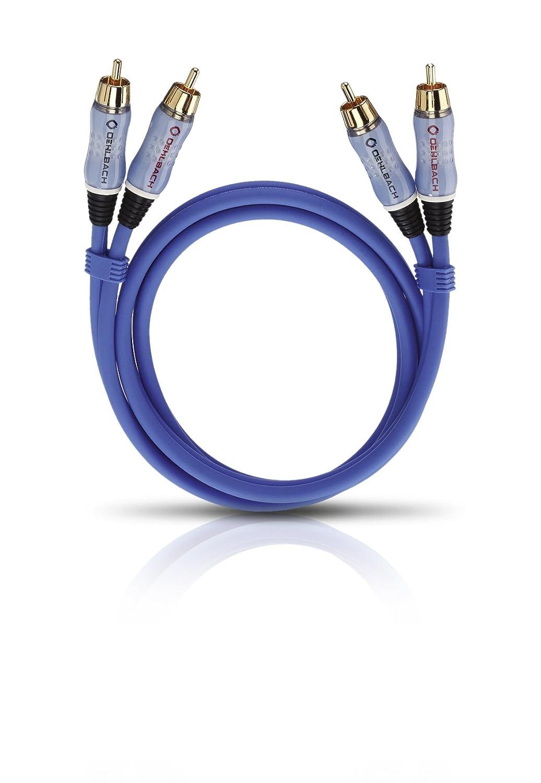 OEHLBACH BEAT INTERLINK Blue 3m cable de audio 2 x RCA Azul Cables de audio 2 x RCA, 3 m, Azul