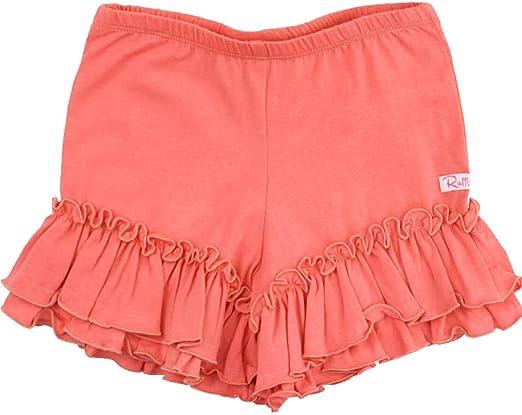 RuffleButts Little Girls Ruffled Bow Shorts