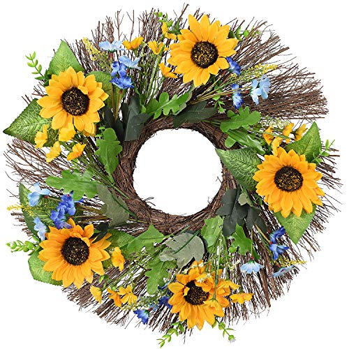 Lvydec Artificial Sunflower Wreath - 16