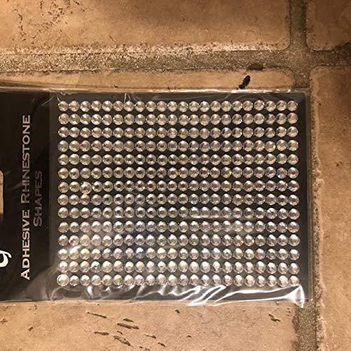 CraftbuddyUS 252 pcs 5mm Ab Clear Self Adhesive Diamante Strips Stick On Rhinestone Gems