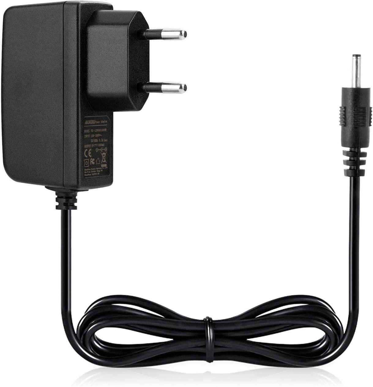 Aukru® EU Fuente de alimentación 5V 2A 2.5mm cargador Adaptador 2.5mm x 0.8mm universal para Android Tablet PC