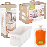 Infantino Fresh Squeezed Fridge Freezer Sleeve & 50 x Squeeze Pouches by Infantino