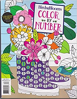 Birds Blooms Color By Number 2017 Relaxing Coloring Book Amazon