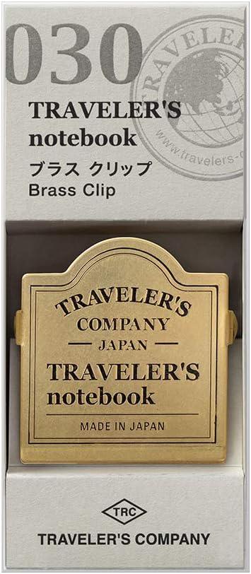 Refill 030 per Travelers Notebook Regular e Passport Size Brass Clip TRC Logo