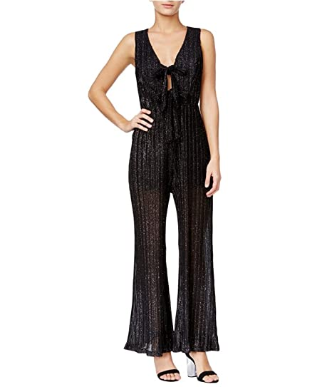 d8ebd9f5f1be Image Unavailable. Image not available for. Color  Trixxi Womens Glitter  Jumpsuit Black 7 - Juniors