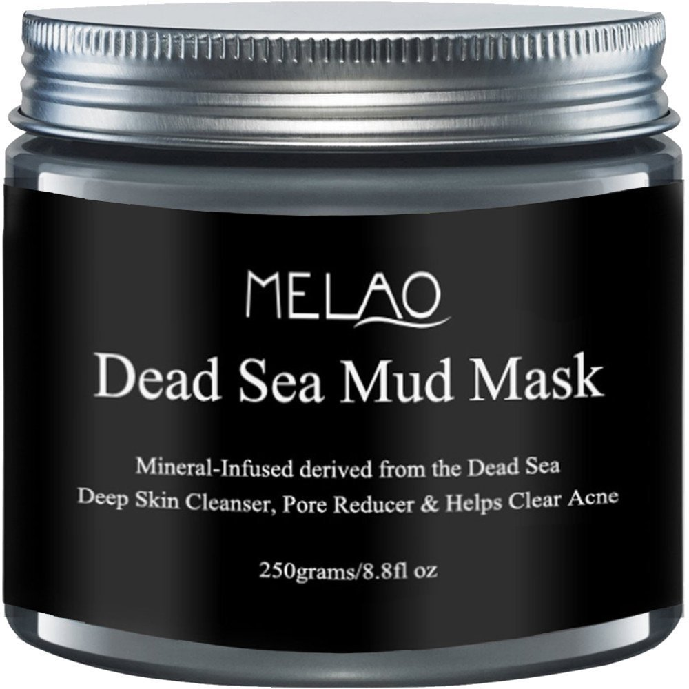 MELAO Dead-Sea-Mud-Mask for Face-and-Body Deep-Pore-Cleansing, Acne-Treatment, Anti-Aging and Anti-Wrinkle, Mineral-Infused for Smoother and Softer Skin (250 grams/8.8fl oz)