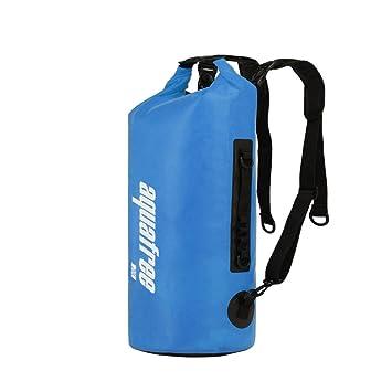 Aquafree Bolsa Seca, calificado Roll Top Bolsa Impermeable, tamaño Opcional, Azul, 100% Impermeable Bolsa Seca