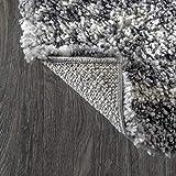 JONATHAN Y Merida Stacked Grid Shag Grey/Ivory 2