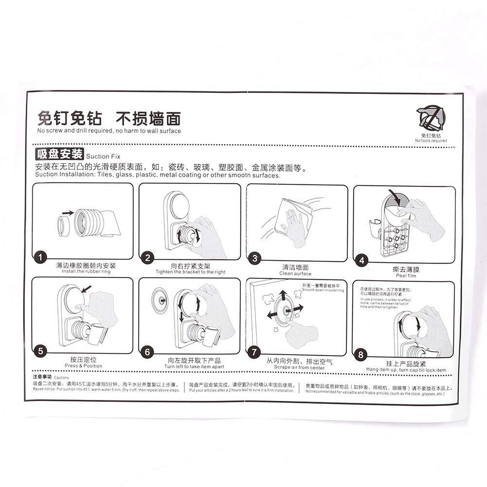 Brausehalter ABS 360 Grad angebracht verstellbarer Duschkopf Basishalter Halter Halterung mit Saugnapf