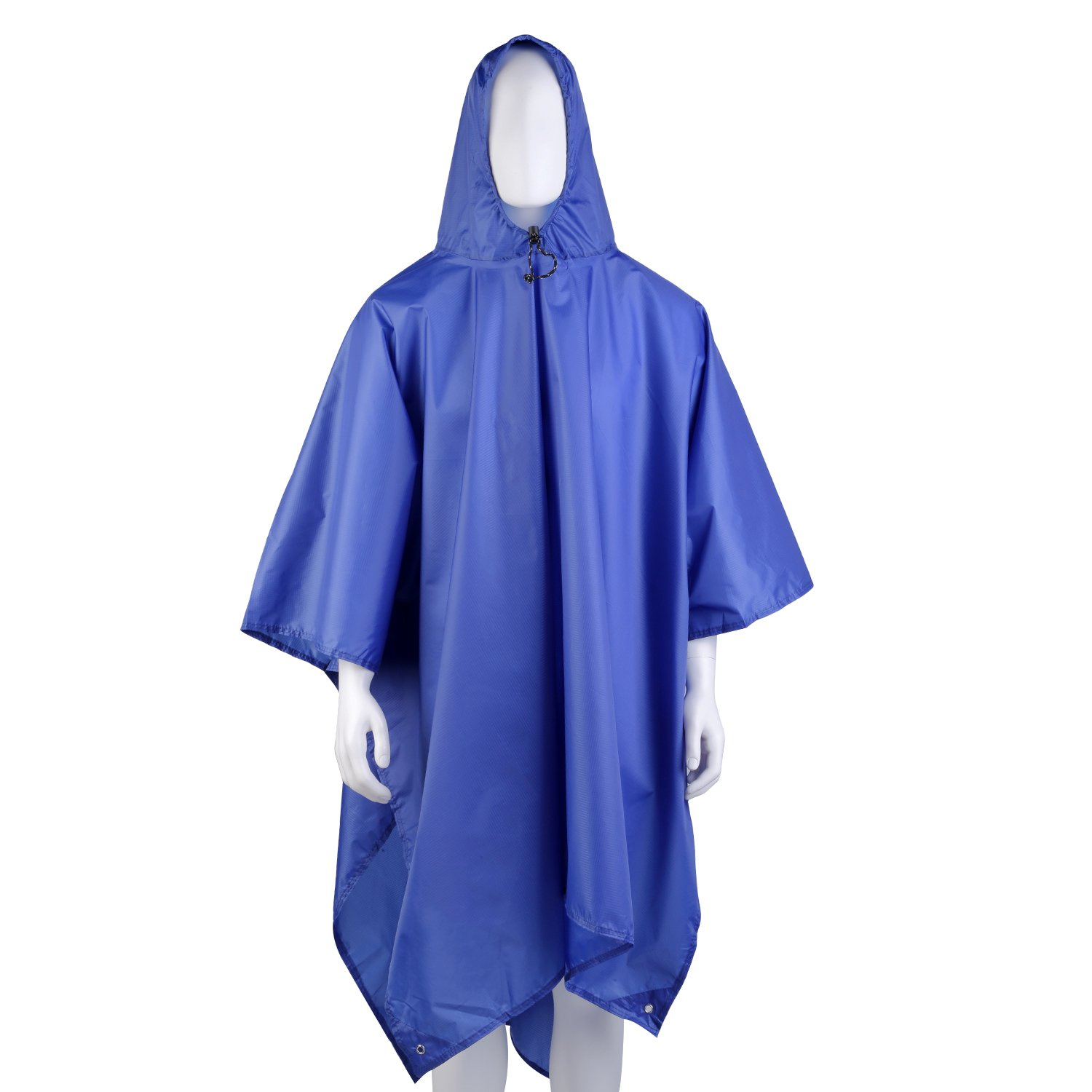 OUTAD Waterproof Rain Poncho,Unisex,Backpack Cover, Tarp (Blue) Unisex,Backpack Cover